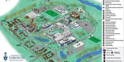 U O F T Campus Map.Toronto Ramani Ramani Toronto Canada